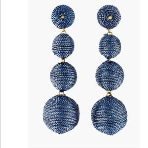 Kenneth Jay Lane Thread Wrapped Ball Earrings